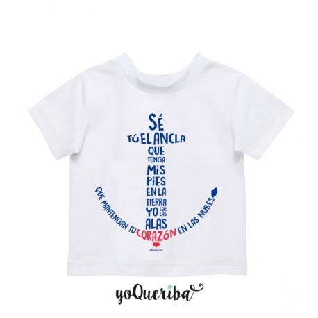 """Camiseta bebé y niños """"Se tú el ancla..."""""""