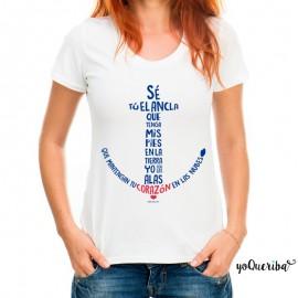 "Camiseta mujer ""Se tú el ancla..."""
