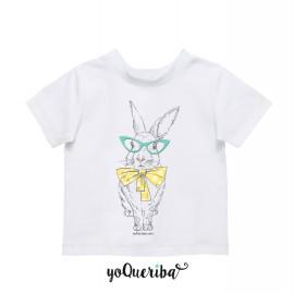 """Camiseta bebé y niños """"Clementine la conejita Hipster"""""""