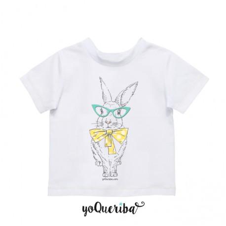 """Camiseta bebé y niños """"Conejita blanca"""""""