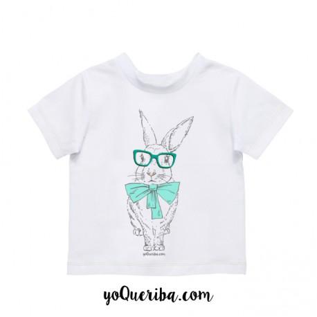 """Camiseta bebé y niños """"Conejito blanco"""""""