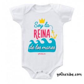 """Body para bebé """"Soy la Reina de los mares."""""""