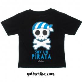 """Camiseta bebé y niños """"Soy un pirata"""""""