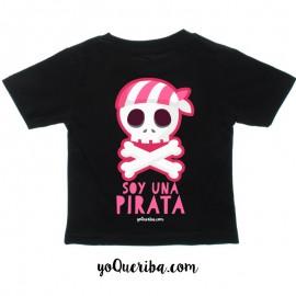"""Camiseta bebé y niñas """"Soy una pirata"""""""