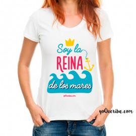 """Camiseta mujer """"Soy la reina de los mares"""""""