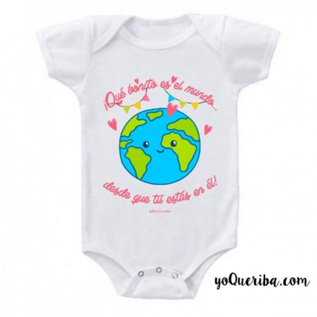 """Body para bebé """"Qué bonito es el mundo..."""""""