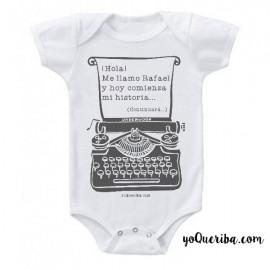 """Body para bebé """"Máquina de escribir"""""""