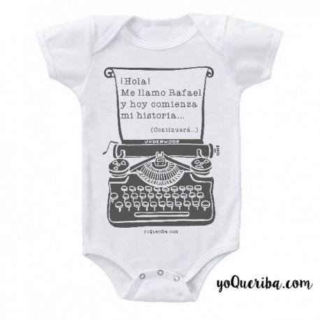 """Body para bebé """"Maquina de escribir"""""""