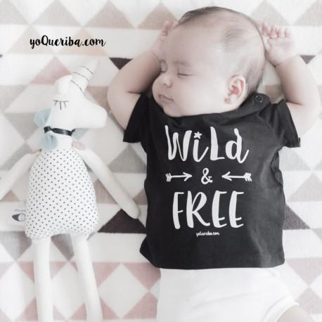 """Camiseta bebé y niños """"Wild & Free"""""""