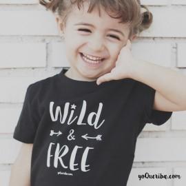 """Camiseta niña """"Wild & Free"""""""