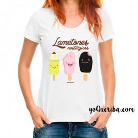 "Camiseta mujer ""Lametones nostálgicos"""