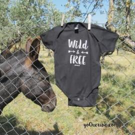 "Body para bebé ""Wild & Free"""