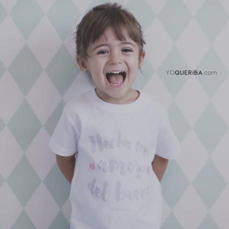 """Camiseta para bebés """"Hecho con amor del bueno"""""""