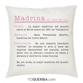 """Cojín """"Madrina"""""""
