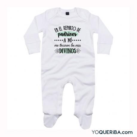 """Pijama para bebé """"Mis padrinos los más divinos"""""""