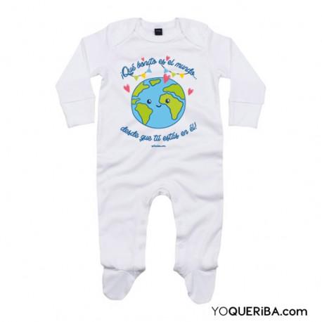 """Pijama """"Qué bonito es el mundo desde que tú estás en él"""""""