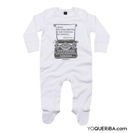 """Pijama para bebé """"Máquina de escribir"""""""