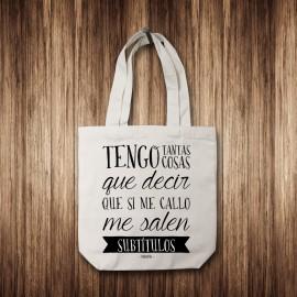 """Tote Bag """"Subtítulos"""""""
