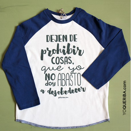 "Camiseta Baseball ""Dejen de prohibir"""