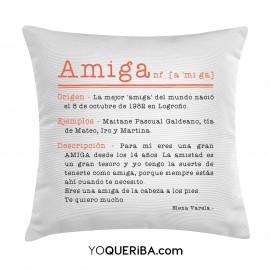 """Cojín """"Amiga"""""""