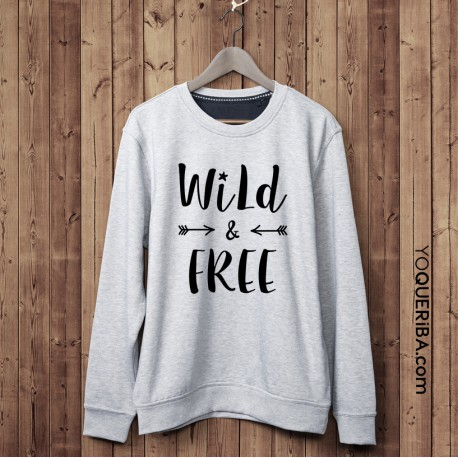 "Sudadera chico ""Wild & Free"""