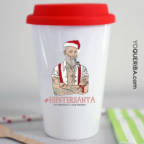 "Taza take away ""HipsterSanta"""
