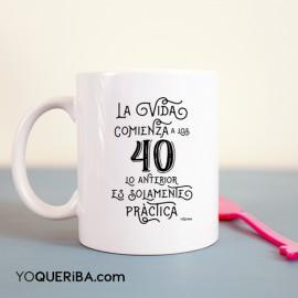 "Taza  ""La vida comienza"""