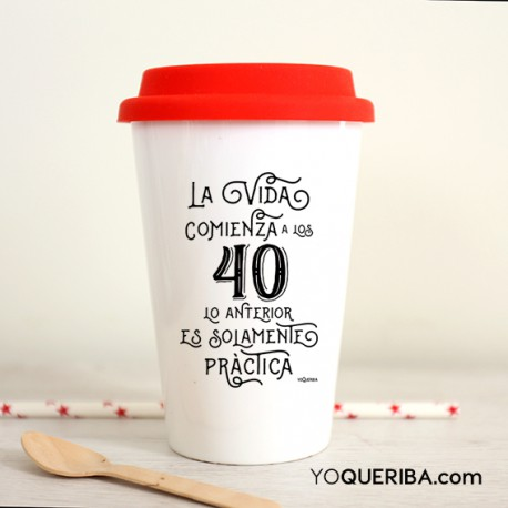 "Take away  personalizada ""La vida empieza"""