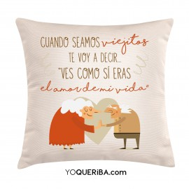 """Cojín """"Cuando seamos viejitos"""""""