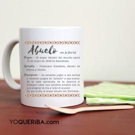 """Taza personalizada """"Mi abuelo es..."""""""