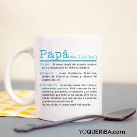 """Taza personalizada """"Papá definición"""""""