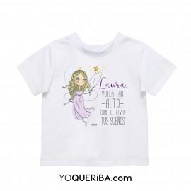 """Camiseta bebés y niña """"Vuela alto"""""""