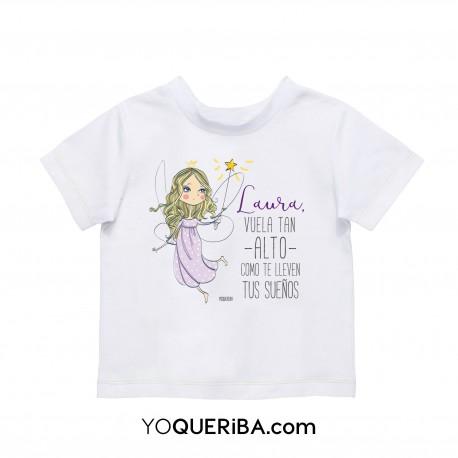 """Camiseta niña """"Vuela alto"""""""