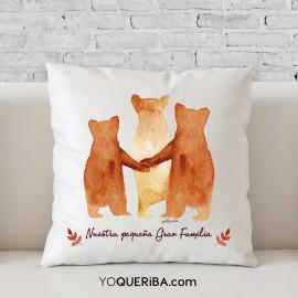 """Cojín personalizado """"Familia de osos"""""""