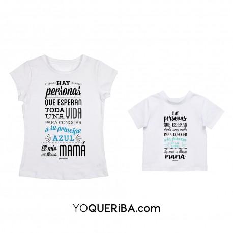"""Kit camisetas mamá y niño """"Príncipe y princesa"""""""