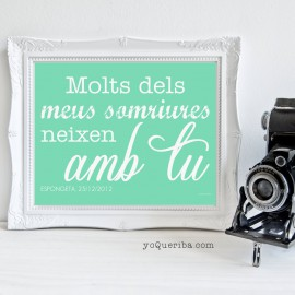 "Làmina en català ""Somruires ...."""