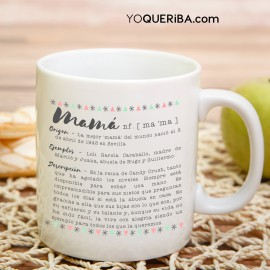 "Taza personalizada ""Mi mamá es"""