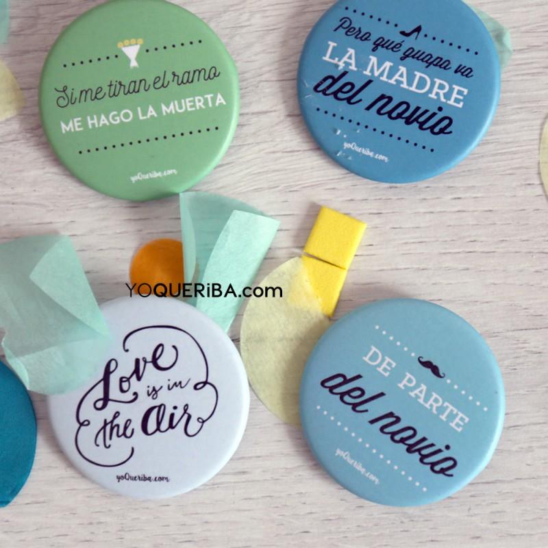 """Chapas personalizadas para bodas """"Love is in the air"""" - photo#22"""