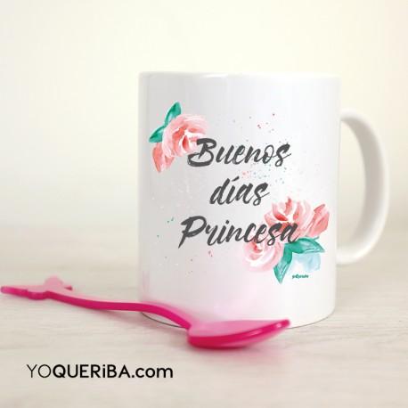 """Taza """"Buenos días princesa """""""