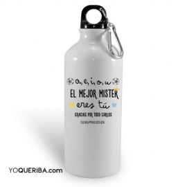 """Botella """"El mejor Mister"""""""