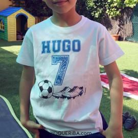 """Camiseta bebé y niños """"Futbol"""""""