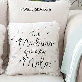 """Cojín """"La madrina que más mola"""""""