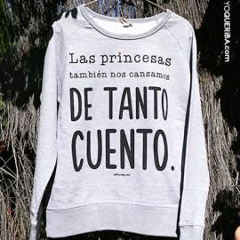 """Sudadera """"Princesas sin cuento"""""""