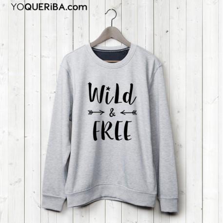 """Sudadera chica """"Wild & Free"""""""