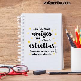 """Cuaderno """"Amigos que son estrellas"""""""