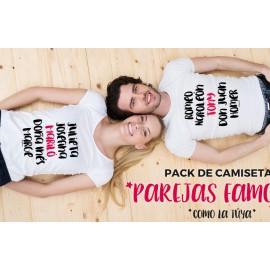 """Pack camisetas personalizadas """"Parejas Famosas"""""""