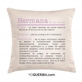 "Cojín ""Hermana definición"""
