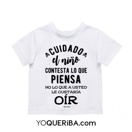 """Camiseta para niños """"Hecho con amor del bueno"""""""