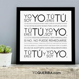 """Lámina """"Yo soy Yo..."""""""