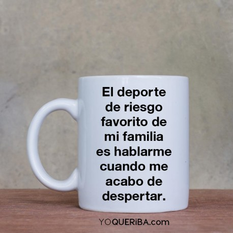 "Taza ""Deporte de riesgo""."